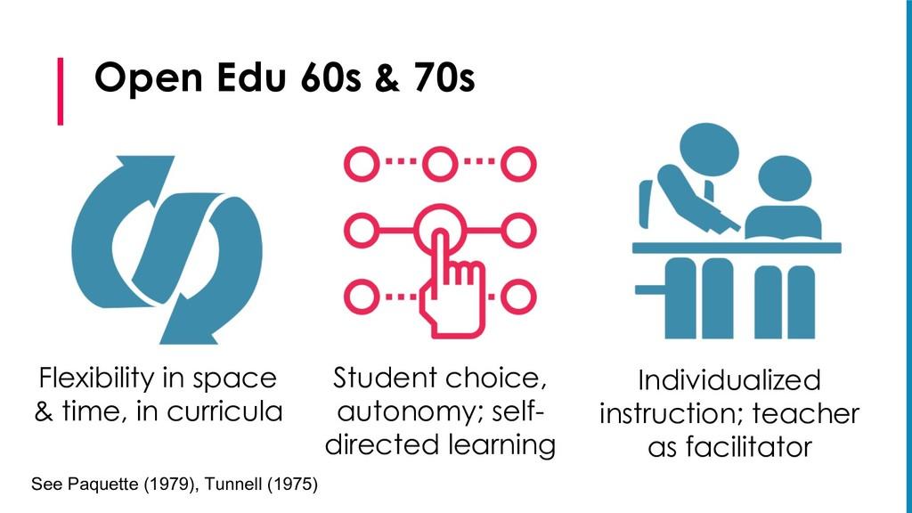 Open Edu 60s & 70s Flexibility in space & time,...
