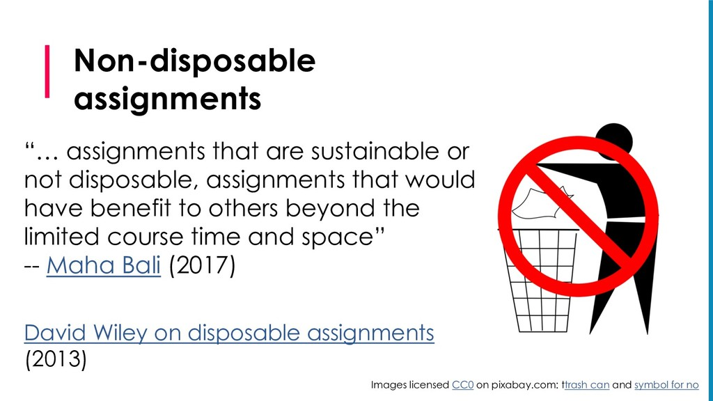 """Non-disposable assignments """"… assignments that ..."""