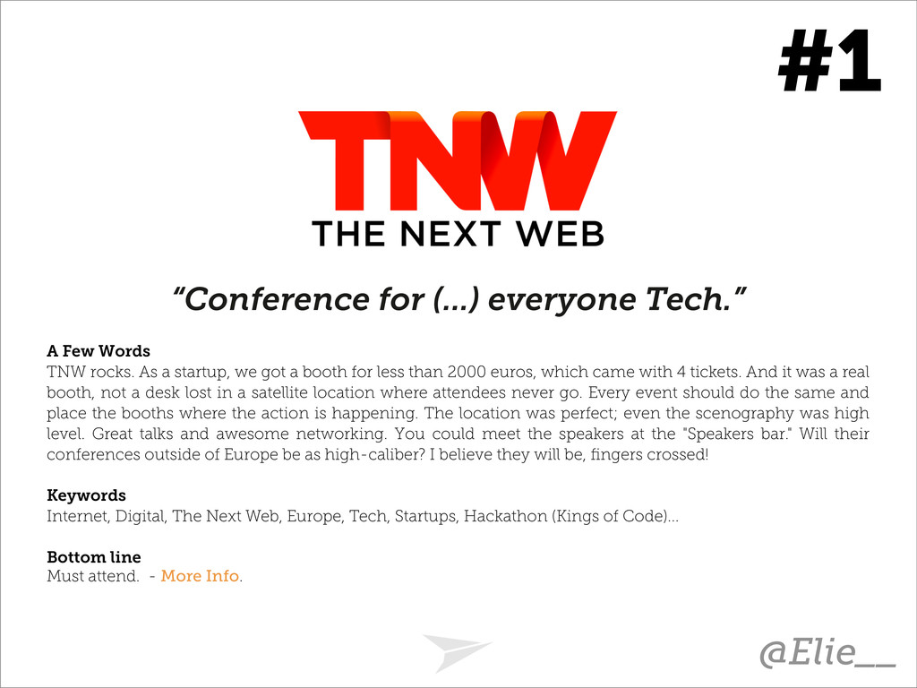 """Conference for (...) everyone Tech."" A Few Wor..."