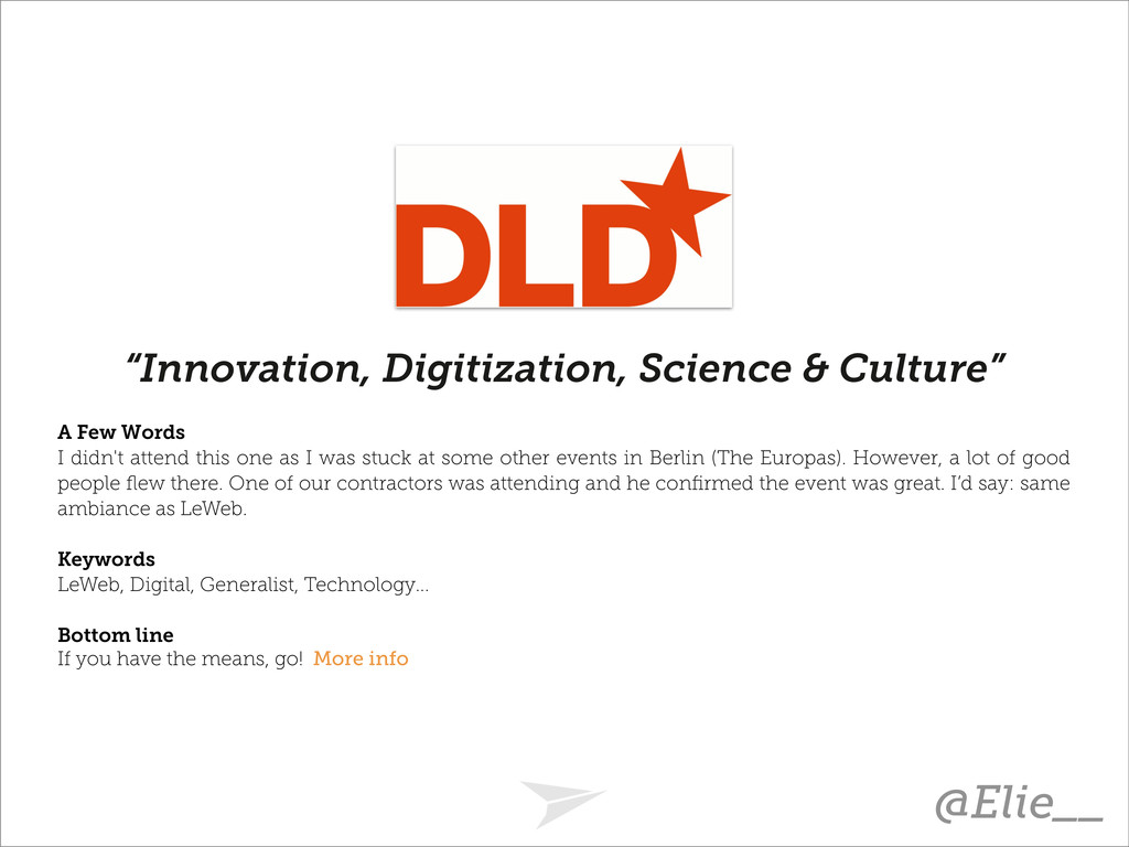 """Innovation, Digitization, Science & Culture"" A..."