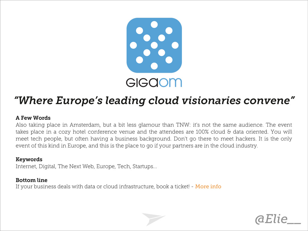 """Where Europe's leading cloud visionaries conve..."