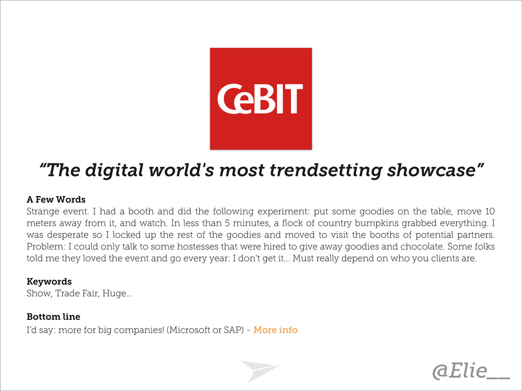 """The digital world's most trendsetting showcase..."