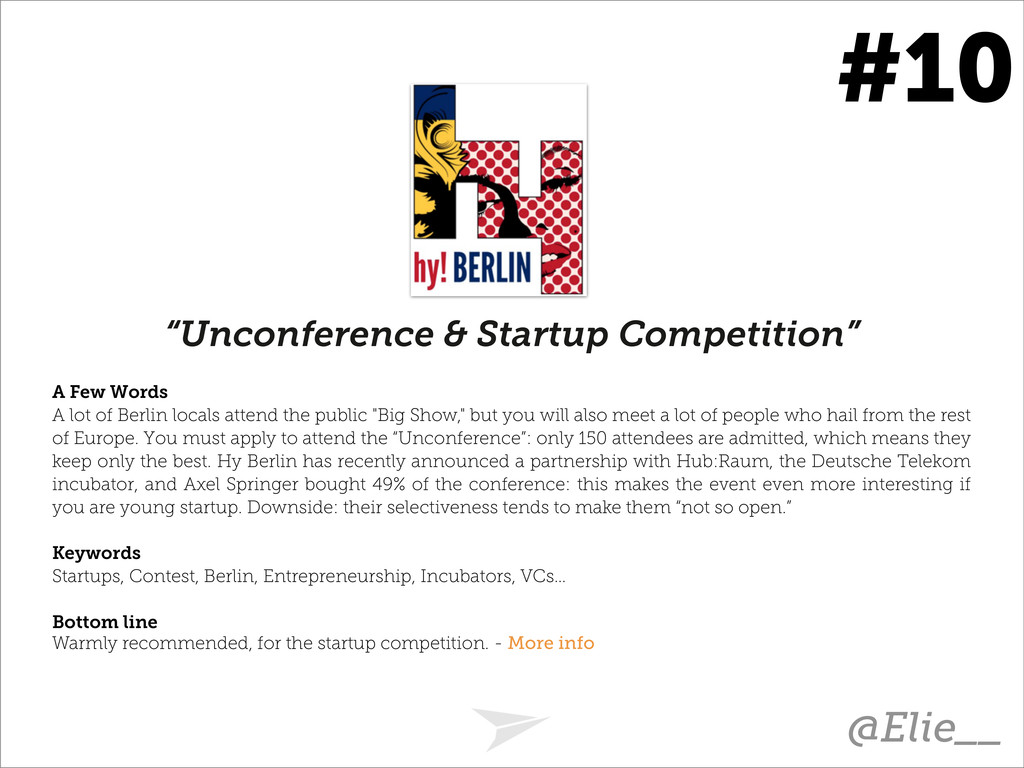 """Unconference & Startup Competition"" A Few Word..."