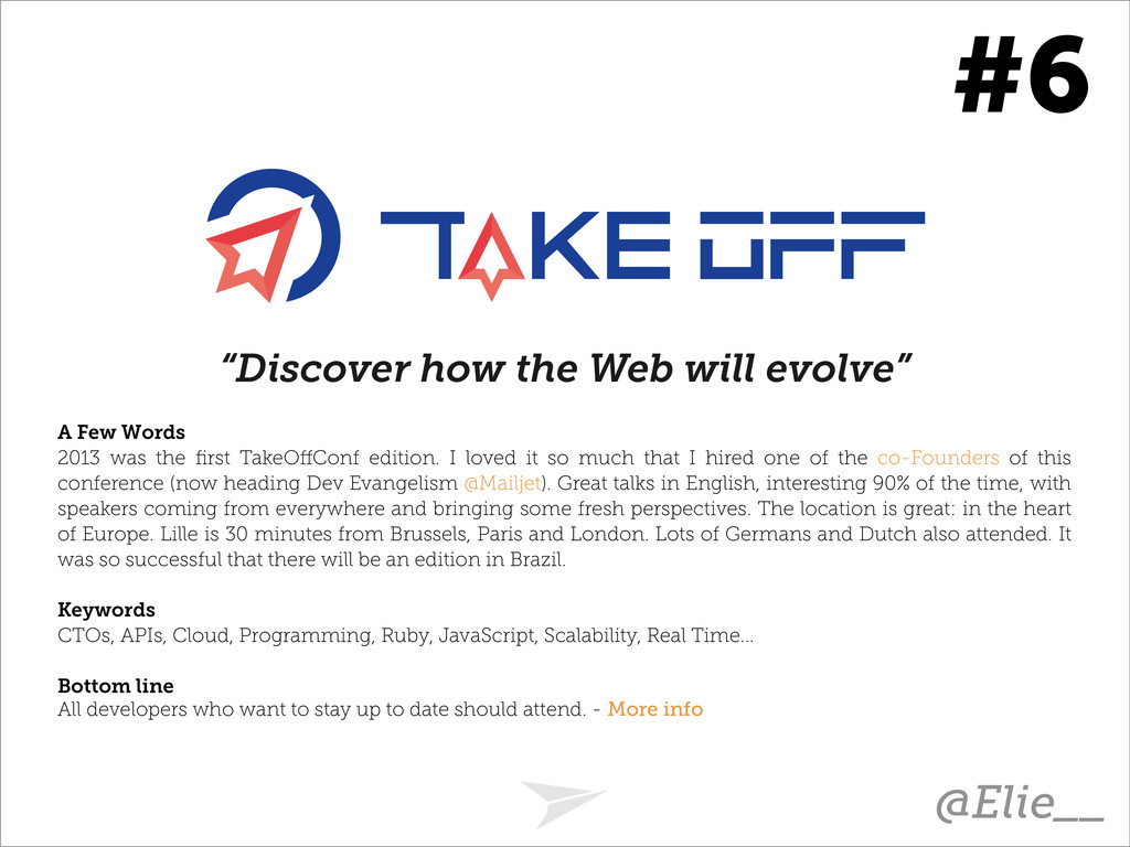 """Discover how the Web will evolve"" A Few Words ..."