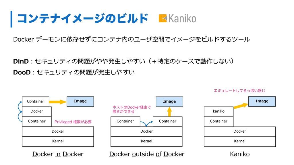ίϯςφΠϝʔδͷϏϧυ Docker デーモンに依存せずにコンテナ内のユーザ空間でイメージを...