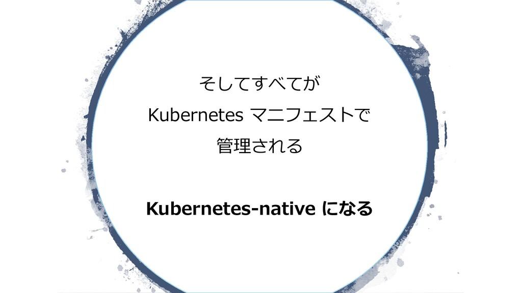 そしてすべてが Kubernetes マニフェストで 管理される Kubernetes-nat...