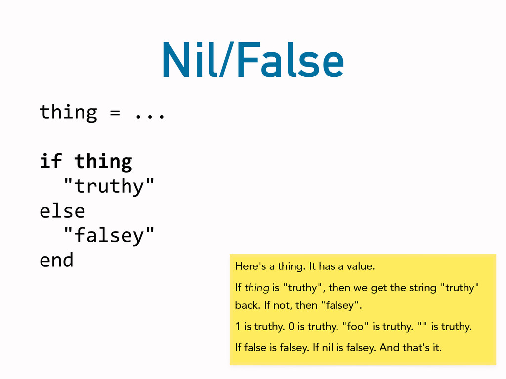 Nil/False thing	