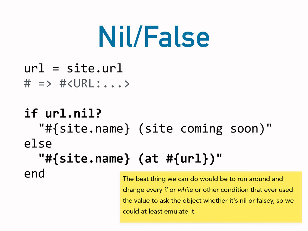 Nil/False url	