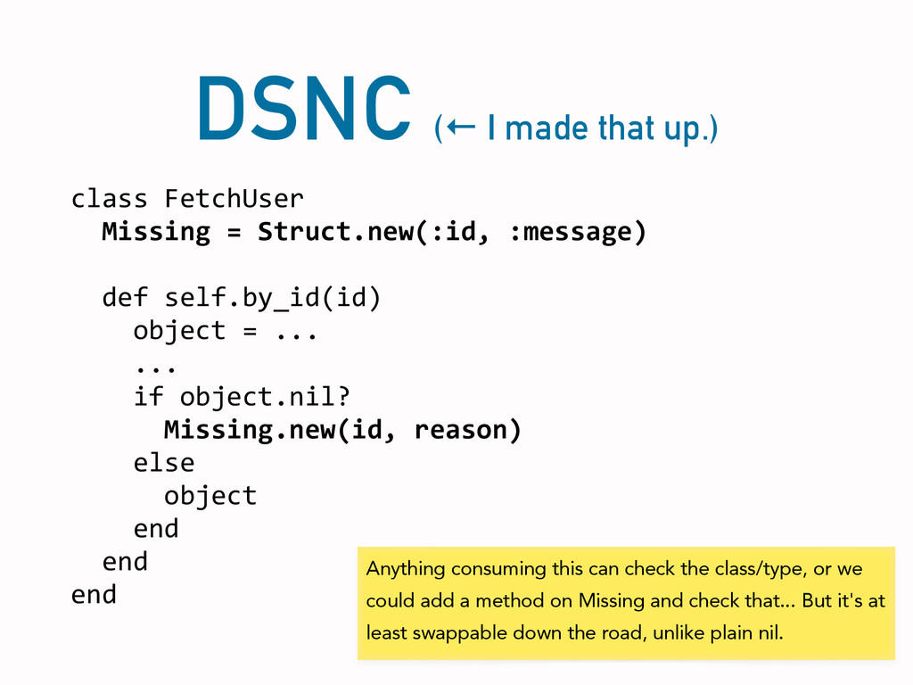 DSNC (← I made that up.) class	