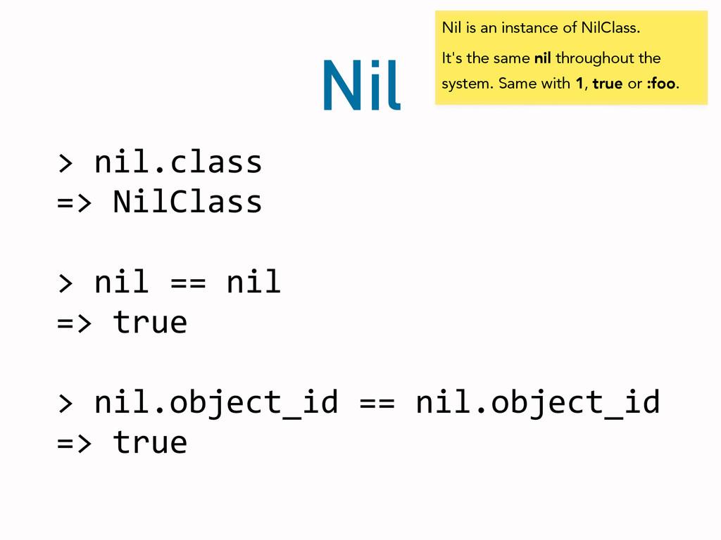 Nil > nil.class  => NilClass  ! >...