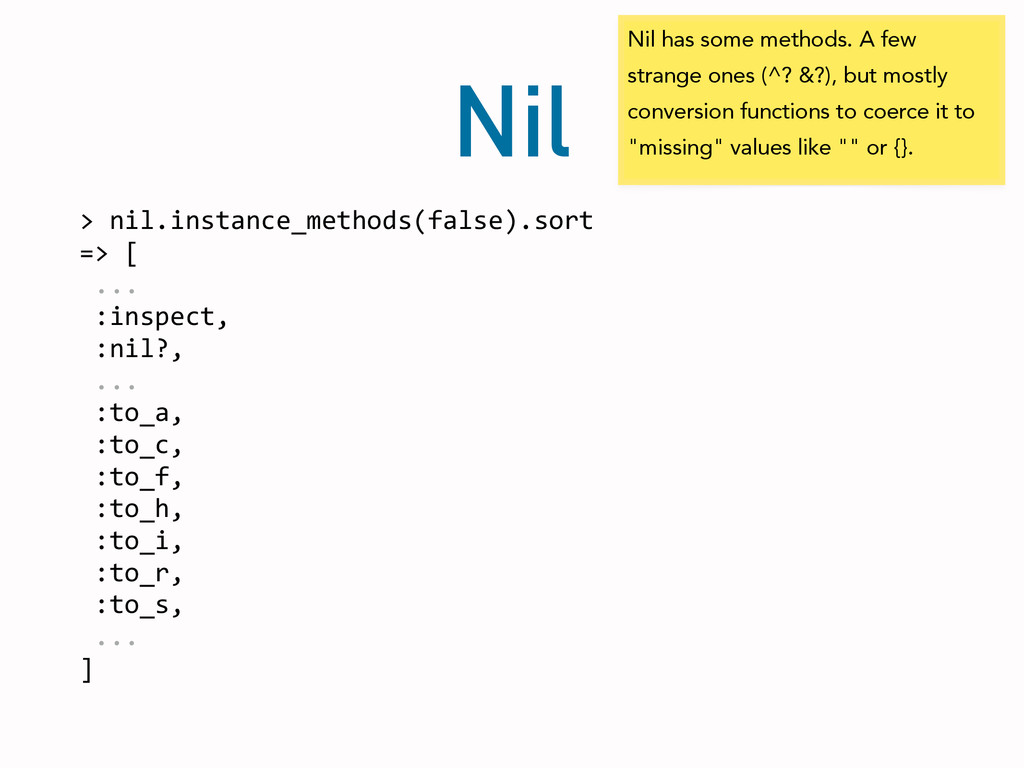 Nil >	