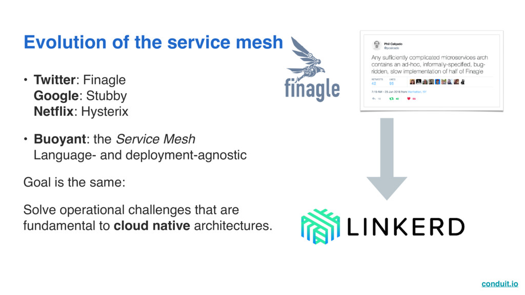 conduit.io Evolution of the service mesh • Twit...