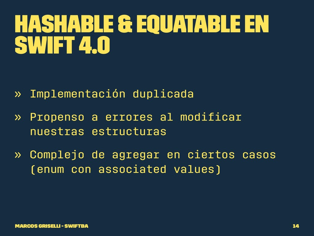 Hashable & Equatable en Swift 4.0 » Implementac...