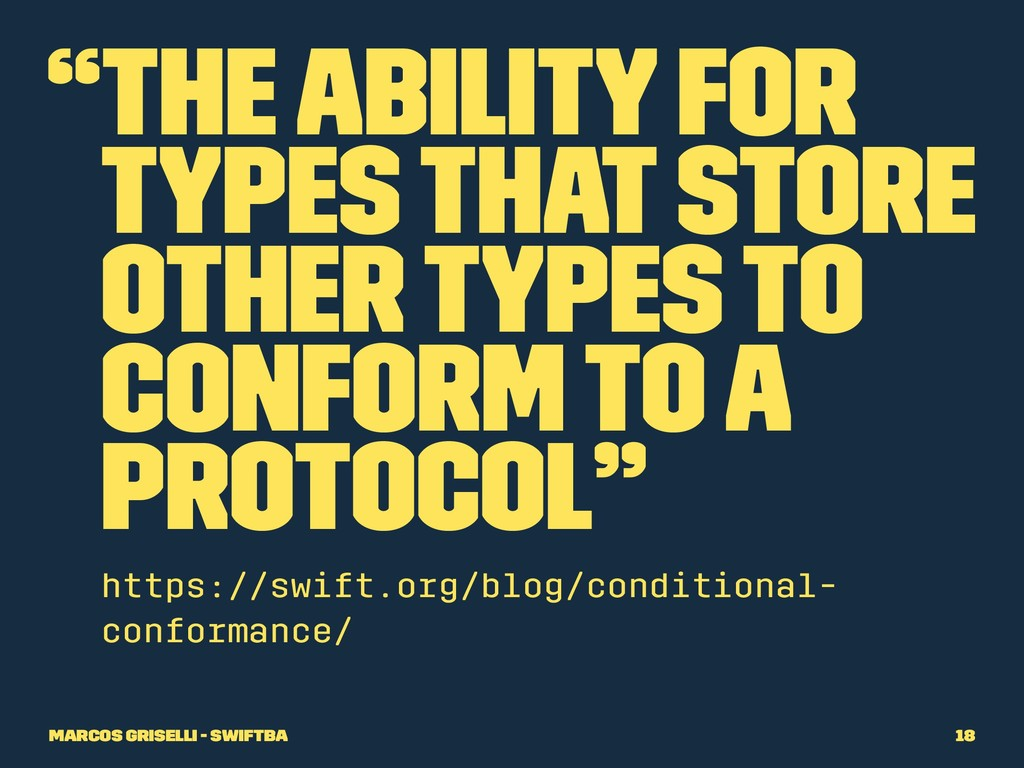 """The ability for types that store other types t..."