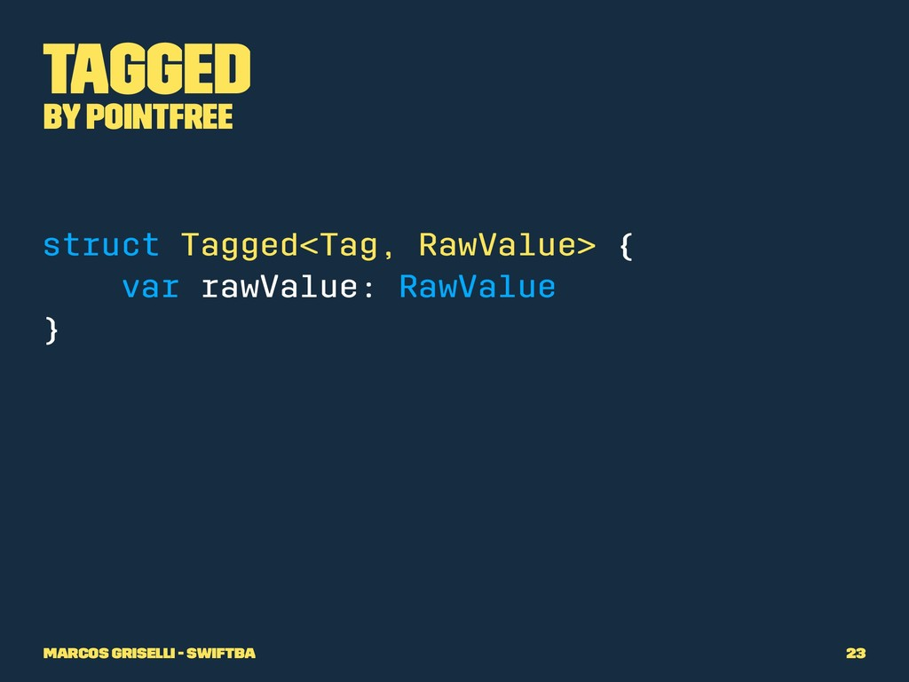 Tagged by PointFree struct Tagged<Tag, RawValue...