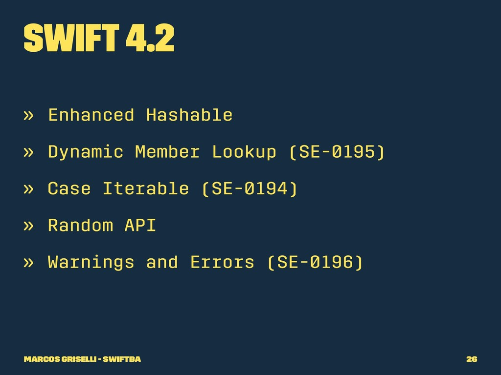 Swift 4.2 » Enhanced Hashable » Dynamic Member ...