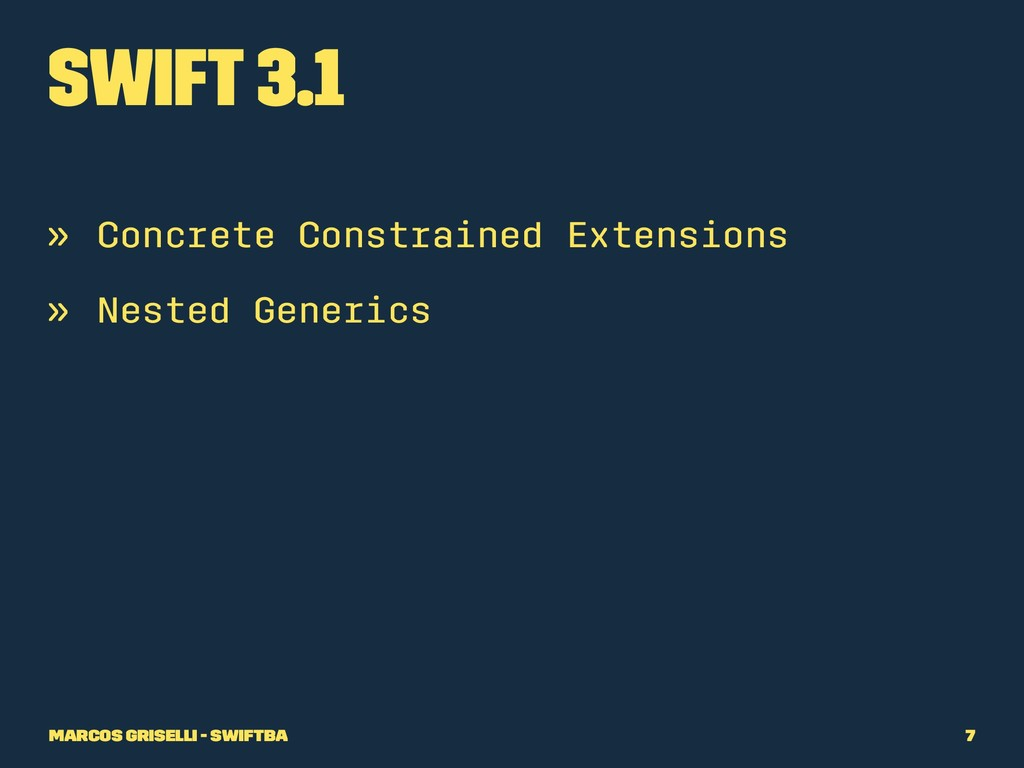 Swift 3.1 » Concrete Constrained Extensions » N...