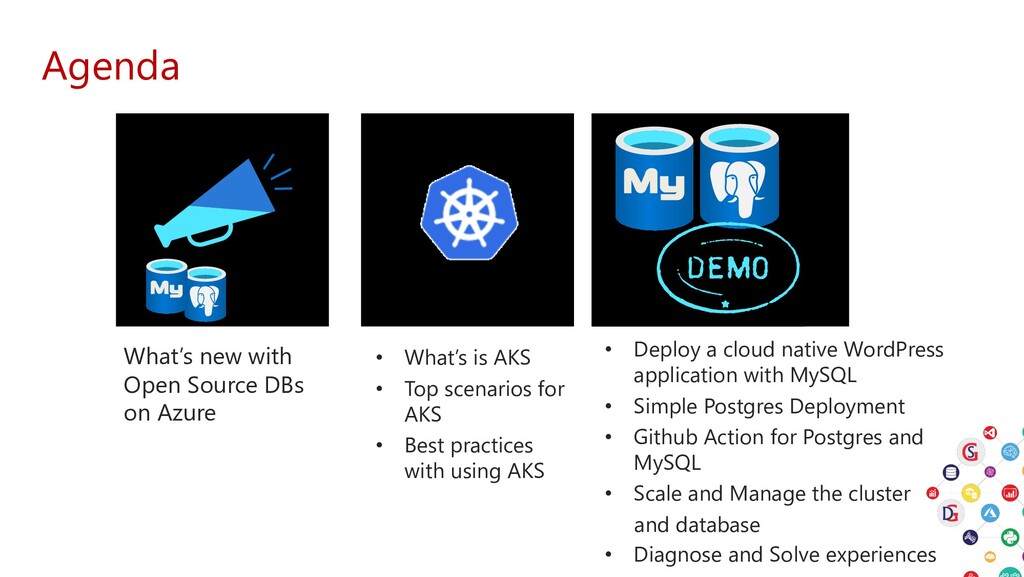 Agenda What's new with Open Source DBs on Azure...