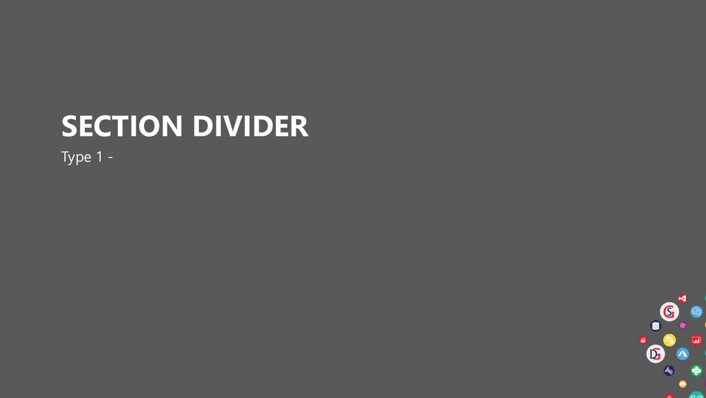 SECTION DIVIDER Type 1 -