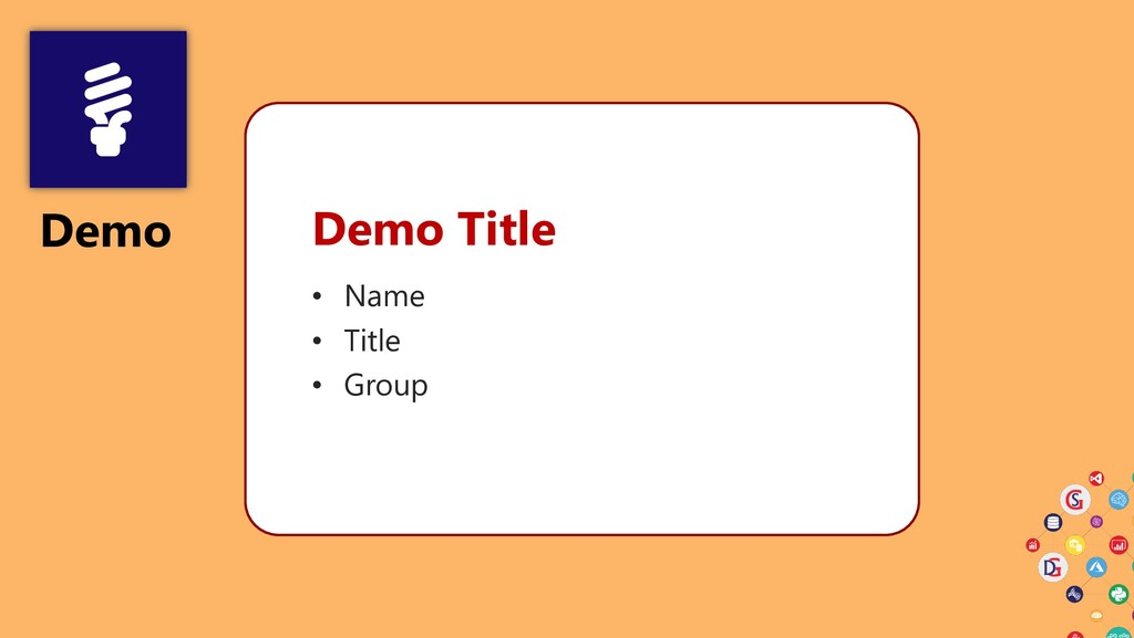 Demo Demo Title • Name • Title • Group
