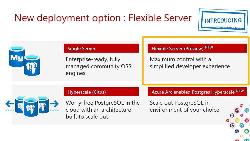 New deployment option : Flexible Server Hypersc...