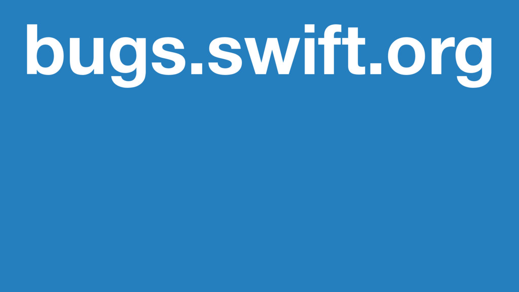 bugs.swift.org