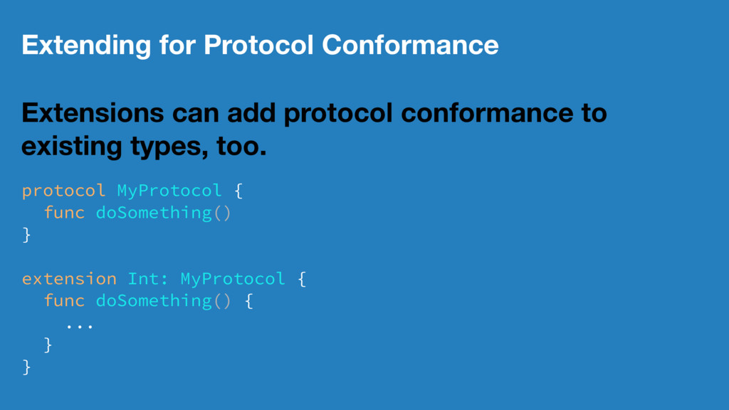 Extending for Protocol Conformance Extensions c...