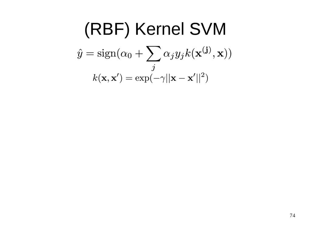 74 (RBF) Kernel SVM