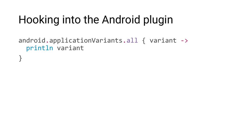 Hooking into the Android plugin android.applica...