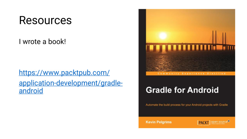 Resources I wrote a book! https://www.packtpub....