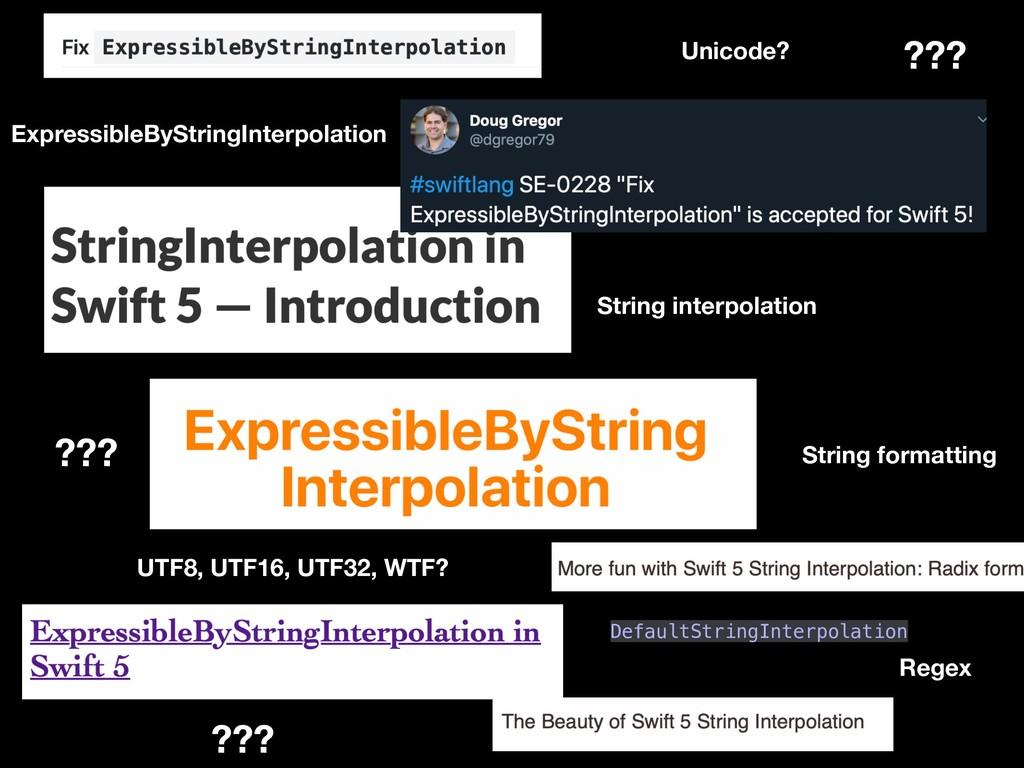 String interpolation ExpressibleByStringInterpo...