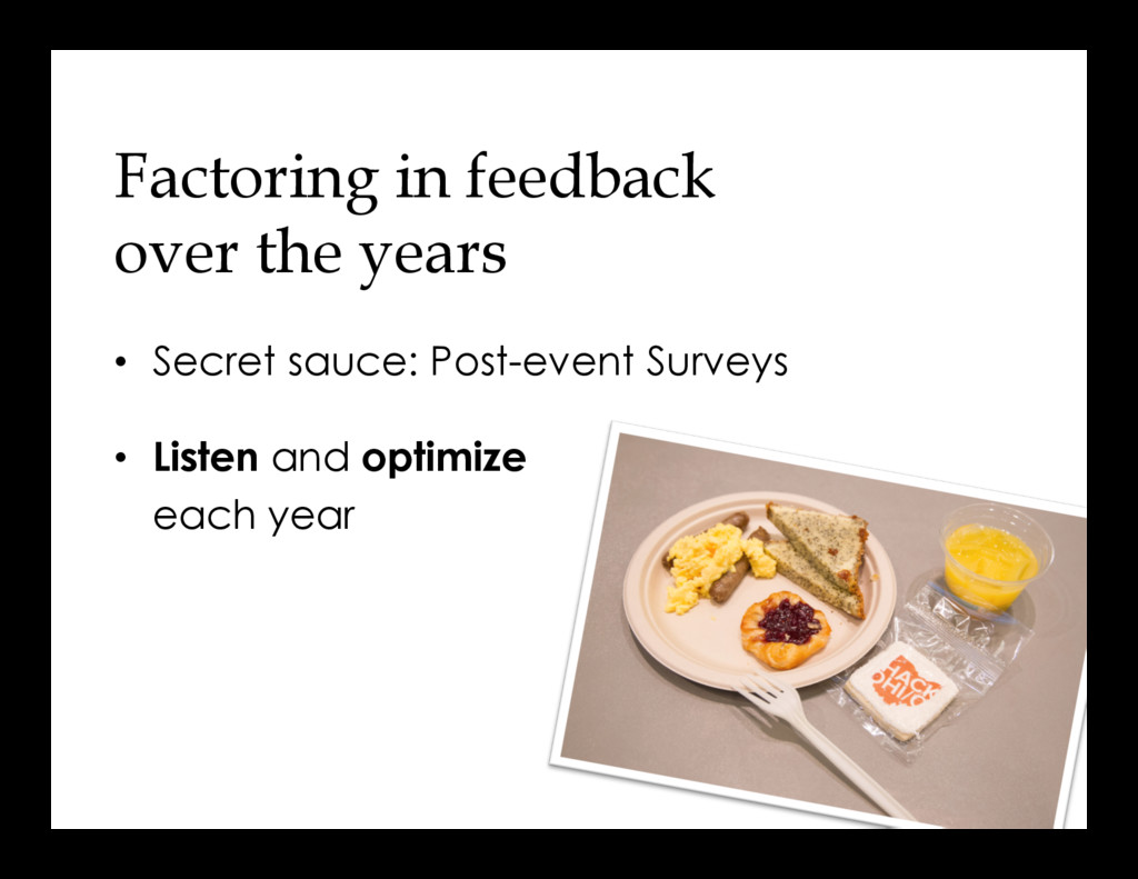 Factoring in feedback over the years •  Secret ...