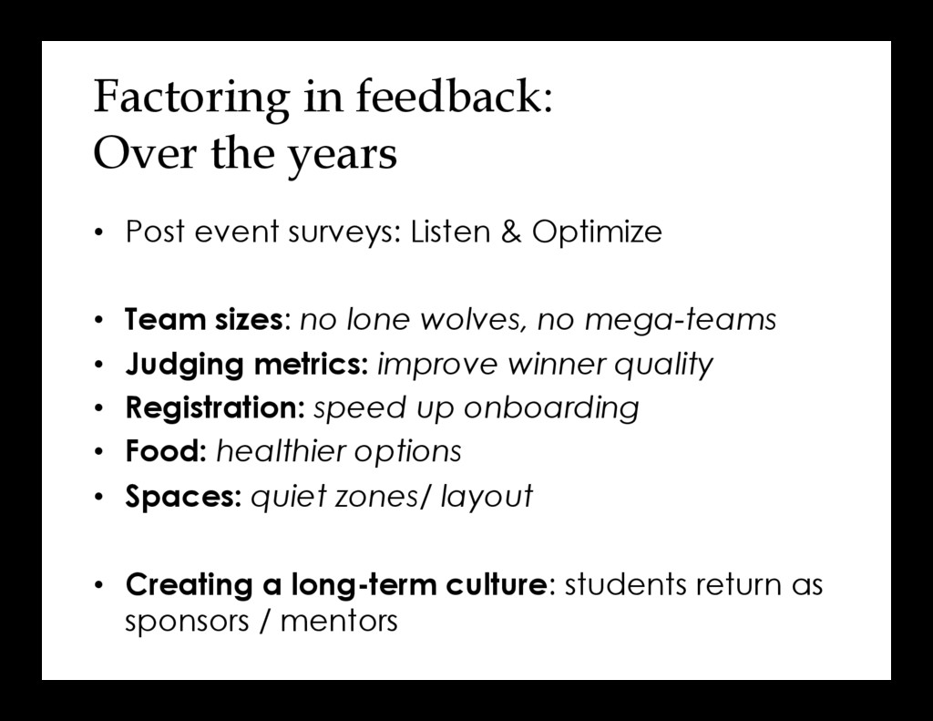 Factoring in feedback: Over the years •  Post e...