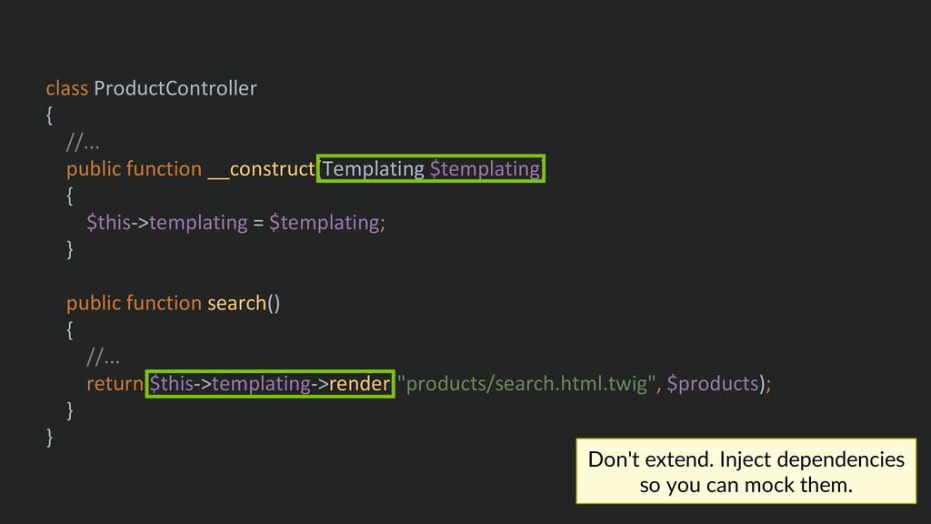 class ProductController { //... public function...