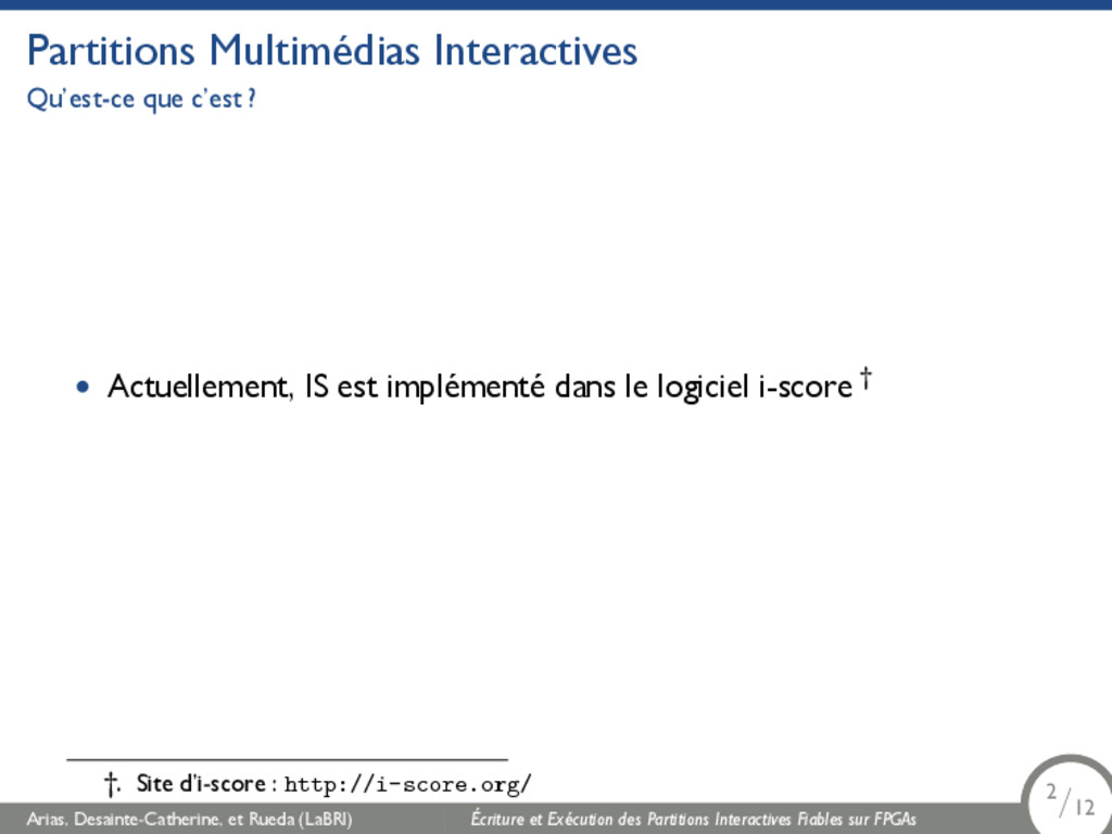 Partitions Multimédias Interactives Qu'est-ce q...