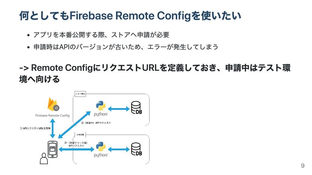 何としてもFirebase Remote Configを使いたい アプリを本番公開する際、スト...