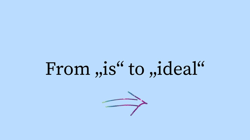 "From ""is"" to ""ideal"""