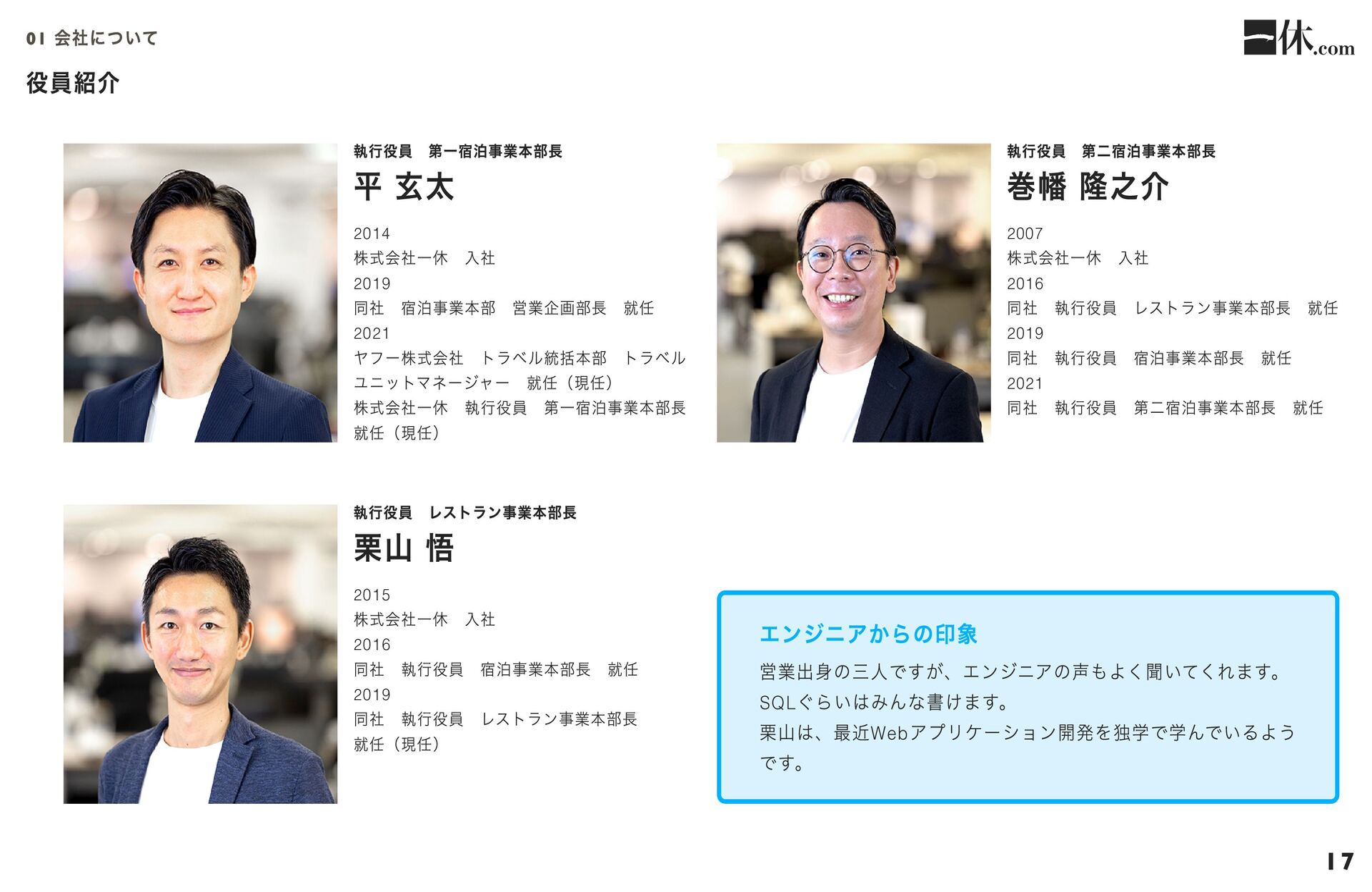 採用技術・ツール 宿泊サービスWindows Platform   • ASP, ASP.NE...