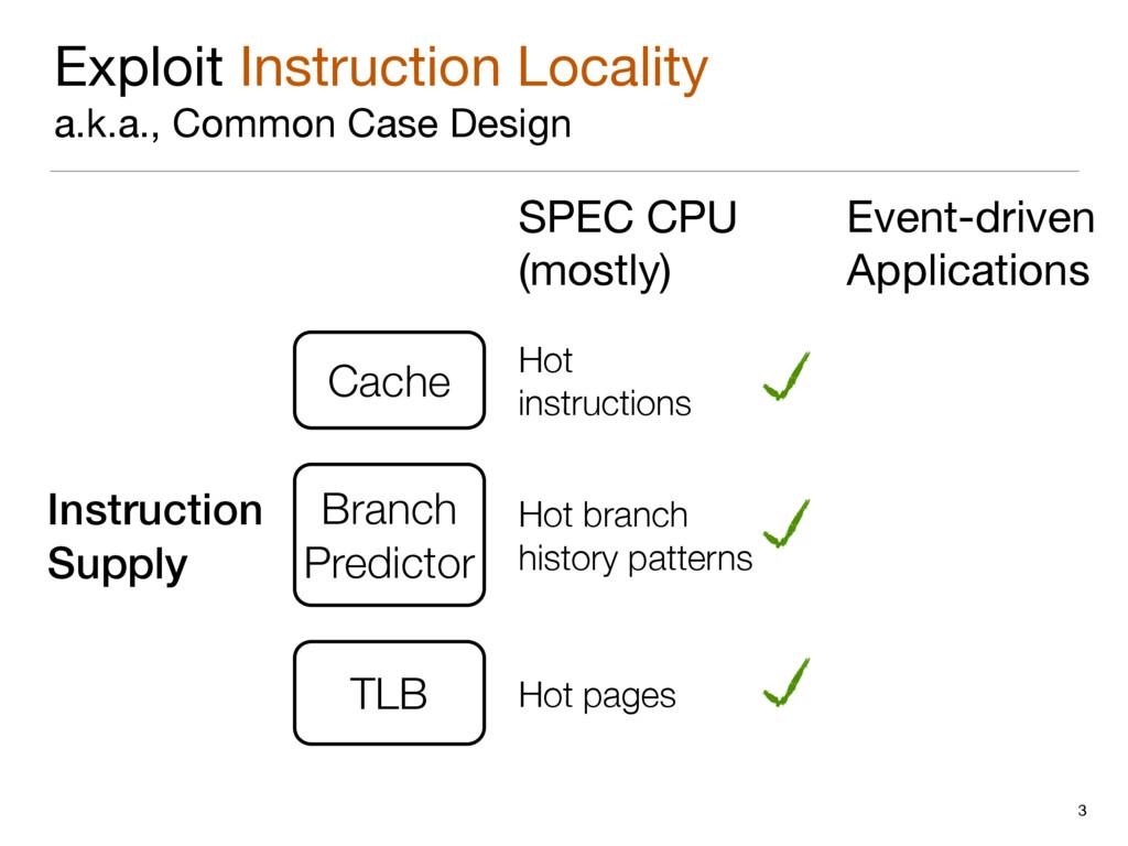 Exploit Instruction Locality  a.k.a., Common Ca...