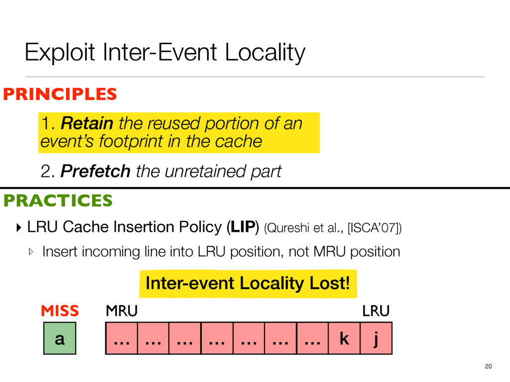 2. Prefetch the unretained part 1. Retain the r...
