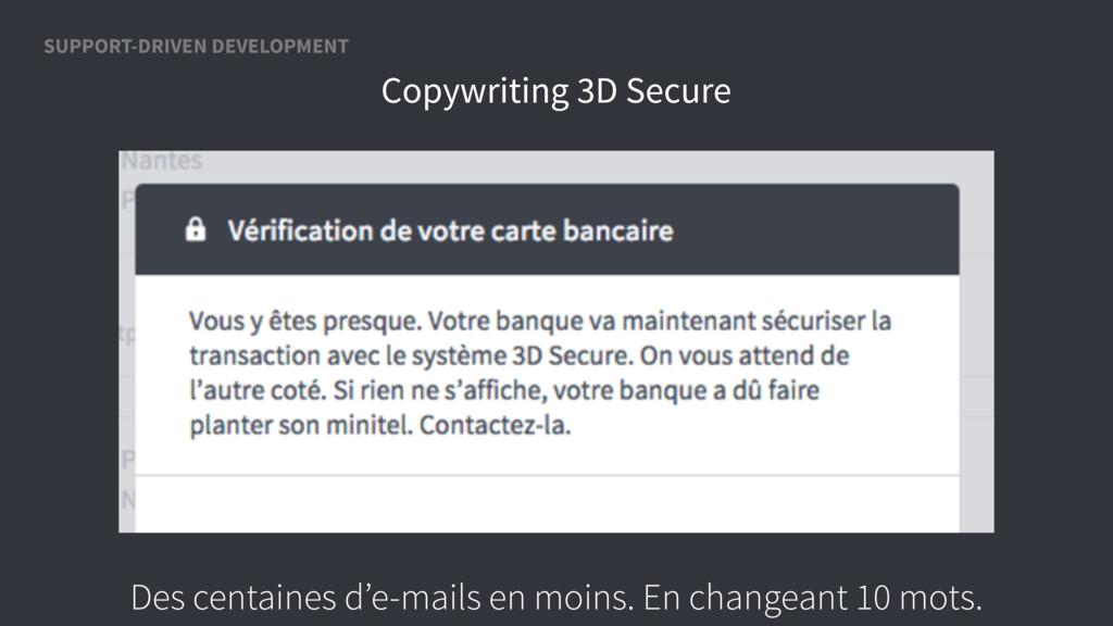 SUPPORT-DRIVEN DEVELOPMENT Copywriting 3D Secur...