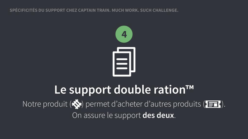 Le support double ration™ Notre produit ( ) per...