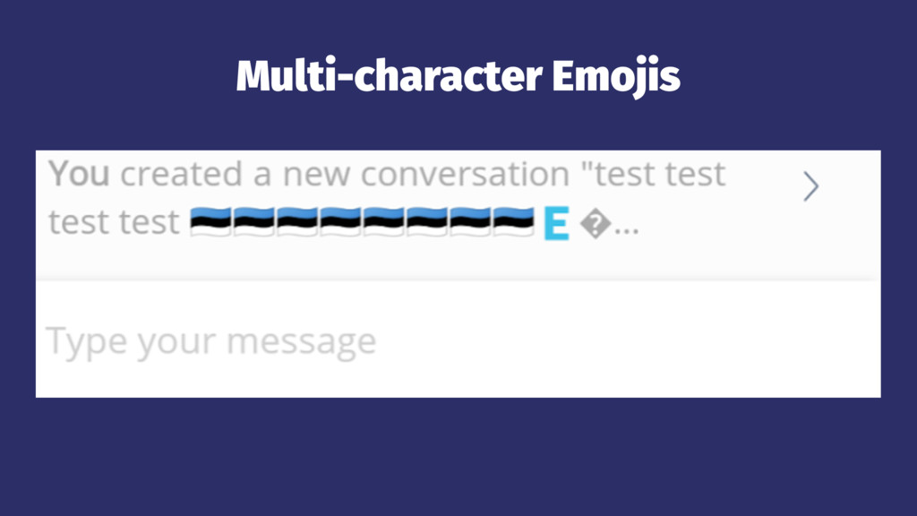 Multi-character Emojis