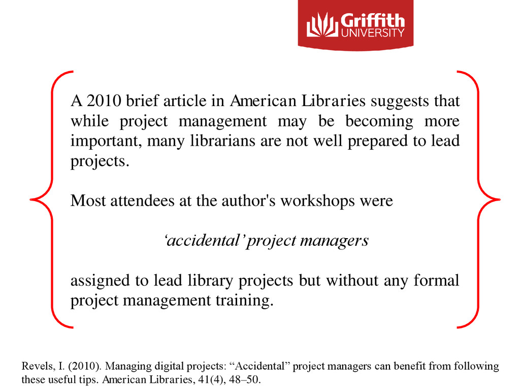 A 2010 brief article in American Libraries sugg...