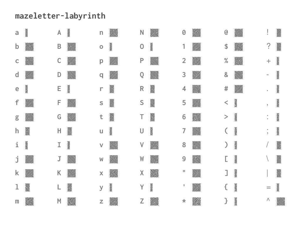 mazeletter-labyrinth a b c d e f g h i j k l m ...