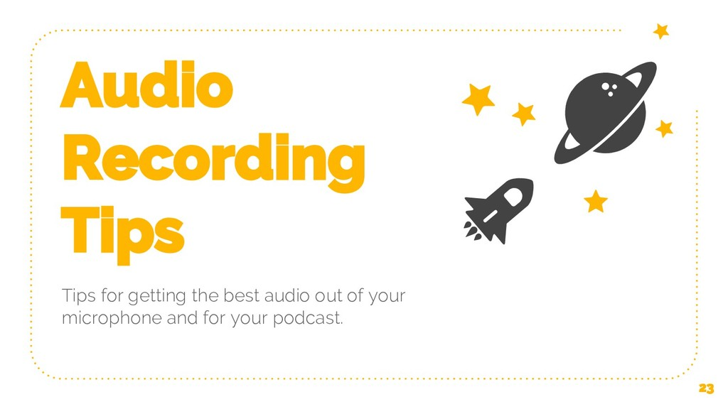 Audio Recording Tips Tips for getting the best ...