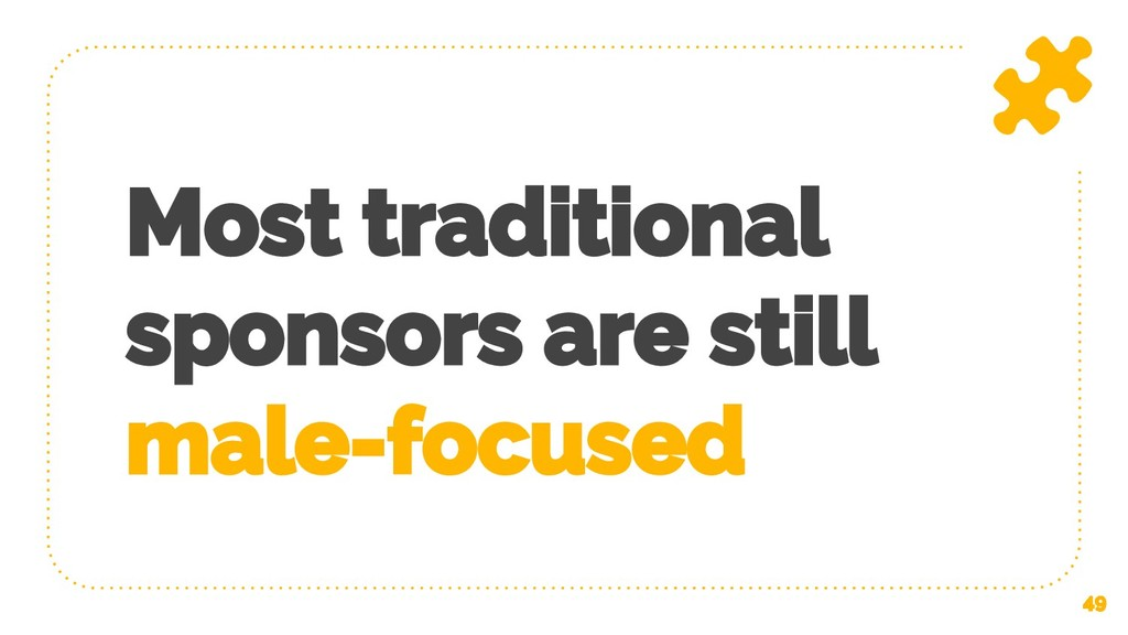 Most traditional sponsors are still male-focuse...
