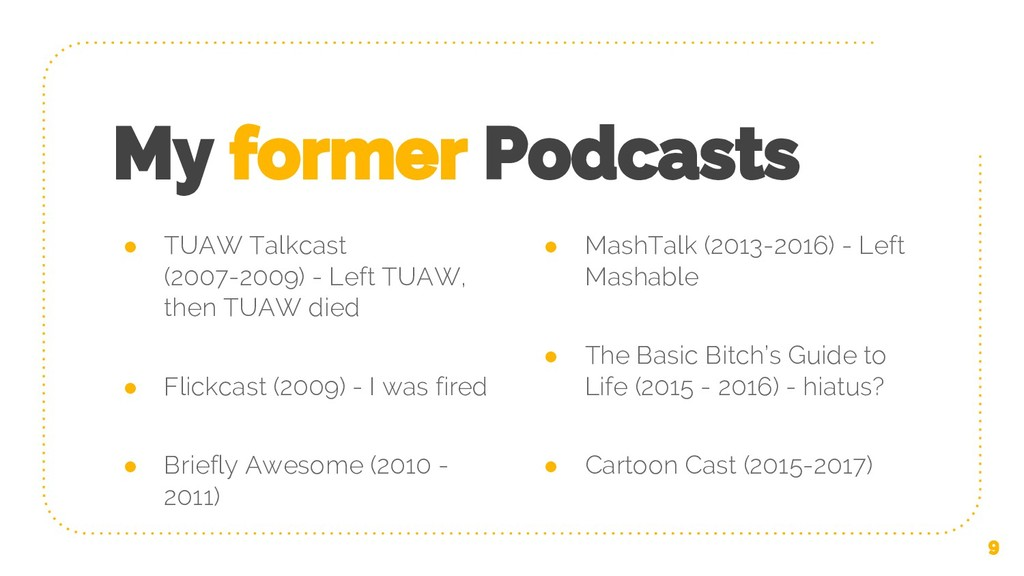 My former Podcasts ● TUAW Talkcast (2007-2009) ...