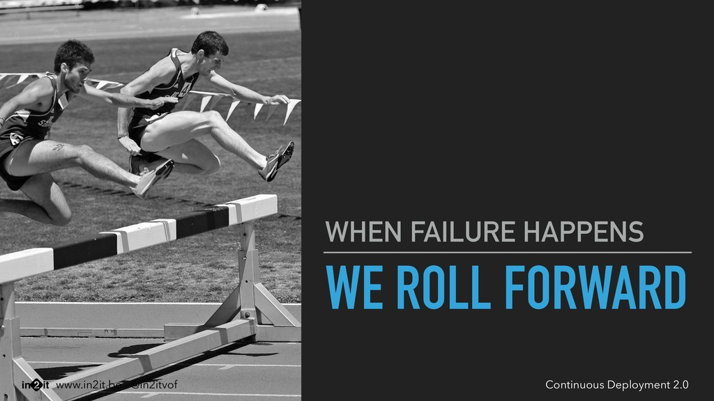 WE ROLL FORWARD WHEN FAILURE HAPPENS Continuous...