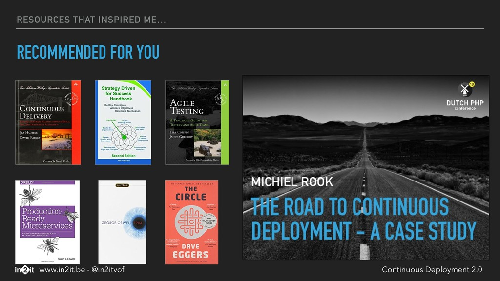 RESOURCES THAT INSPIRED ME… RECOMMENDED FOR YOU...